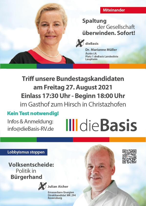 Vorstellung der Bundestagskandidaten